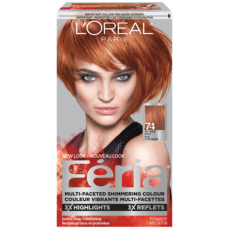 L\u002639;Oreal Feria Hair Colour  74 Deep Copper Blonde  London Drugs
