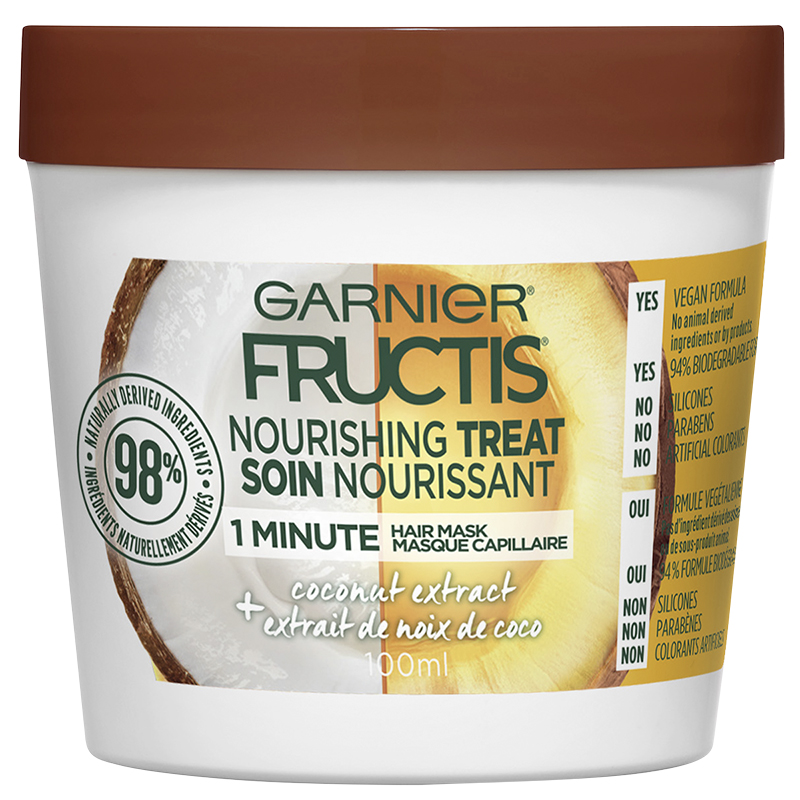 Garnier Fructis Smooth Treat 1 Minute Hair Mask - Coconut - 100ml