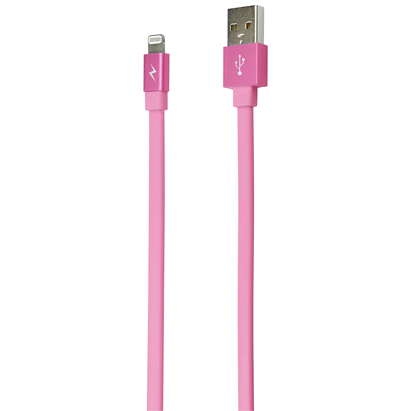 Logiix Piston Connect Flat Lightning Cable - 1.5m - Pink - LGX10901