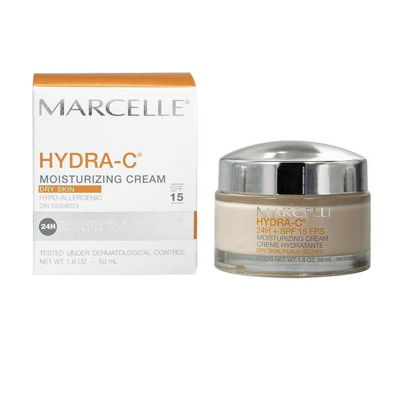 Marcelle Hydra-C 24H Moisturizing Cream for Dry Skin - SPF 15 - 50ml