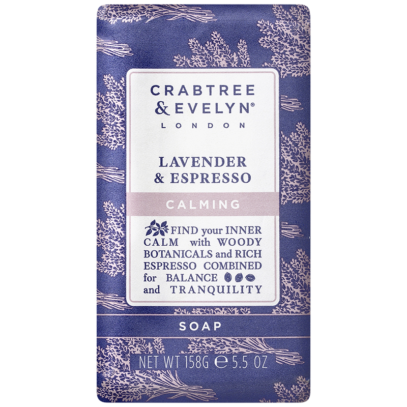 Crabtree & Evelyn Lavender & Espresso Calming Soap - 158g
