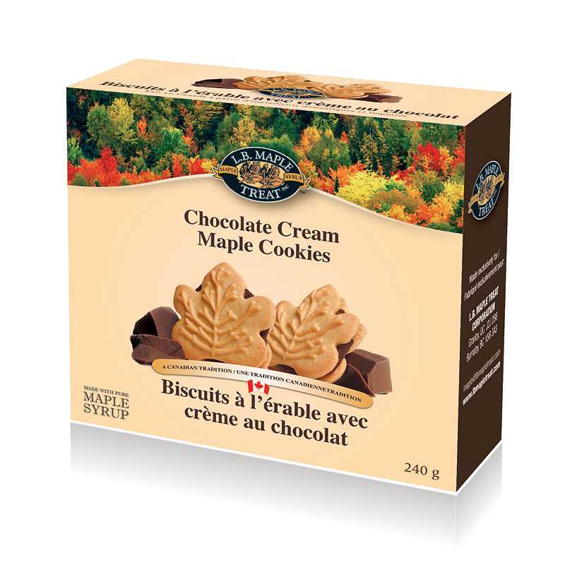 LB Maple Chocolate Cream Cookies - 240g