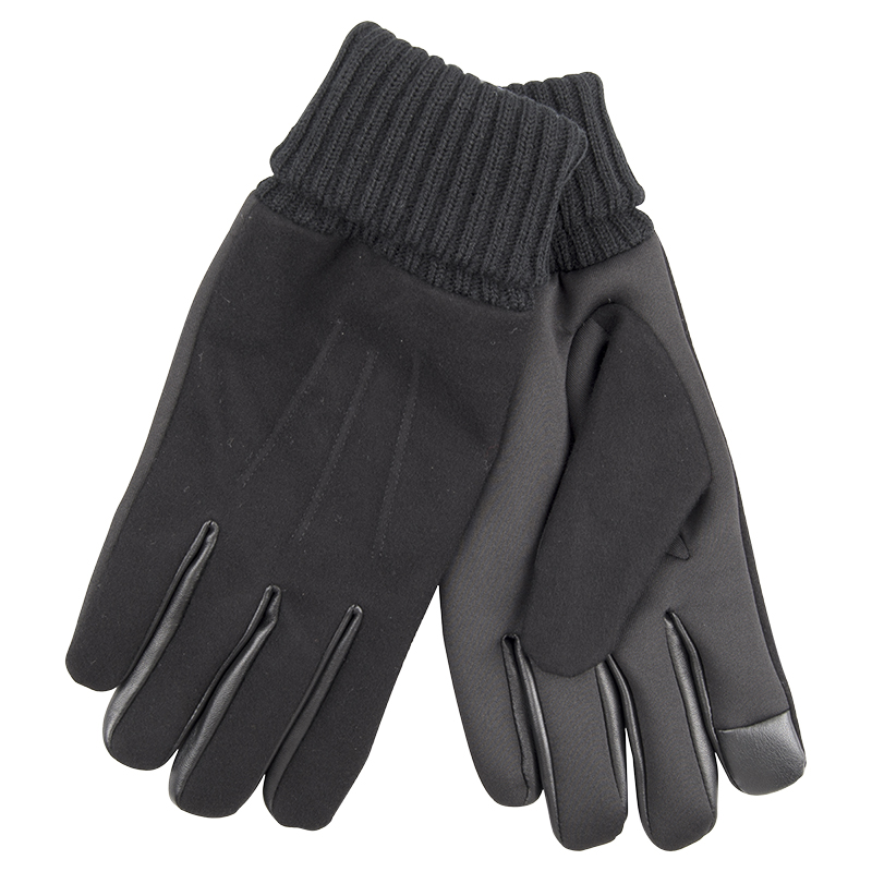 Dockers Wool Knit Gloves - Black - Medium