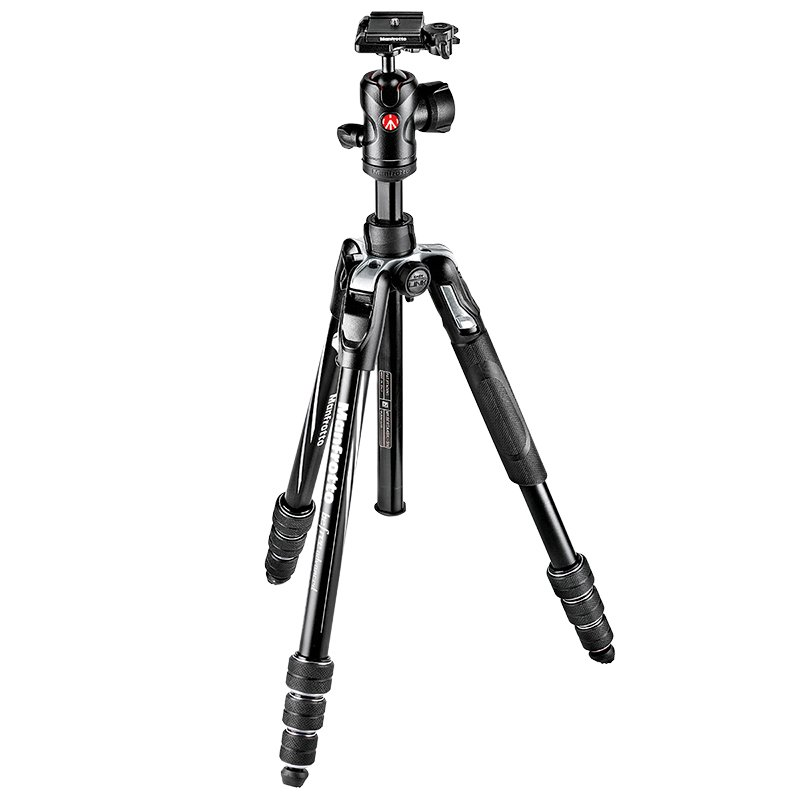 Manfrotto BeFree Advanced Aluminum 4-Section Twist Leg Ball Head Kit - MKBFRTA4BK-BH