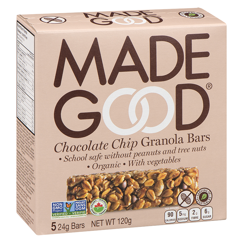 Made Good Granola Bars - Chocolate Chip - 5 pack