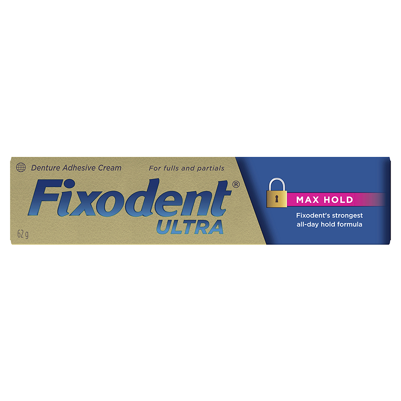 Fixodent Ultra Denture Adhesive Cream - Max Hold - 62g
