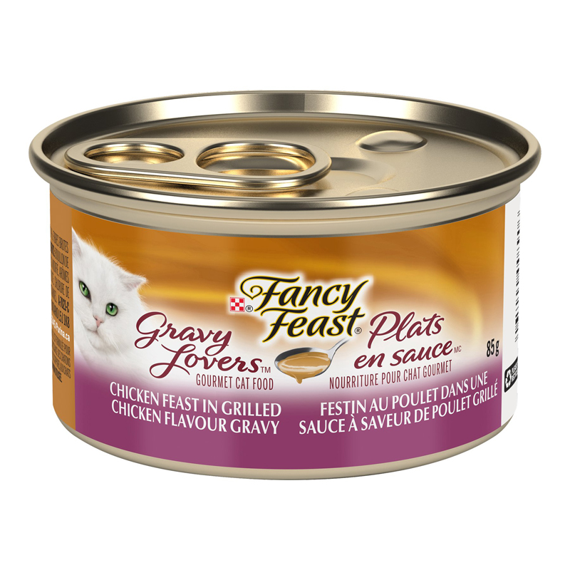 Fancy Feast Gravy Lovers Cat Food - Grilled Chicken - 85g