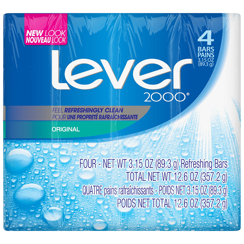 Lever 2000 Original Bar Soap - 4 x 89.3g