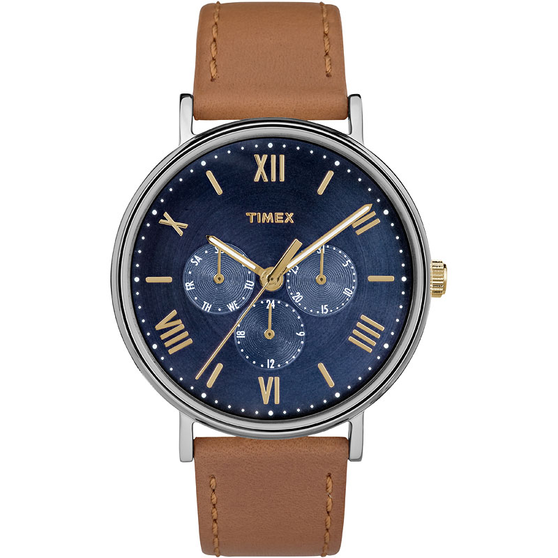 Timex Main St. Collection Watch - Tan/Blue - TW2R29100ZA