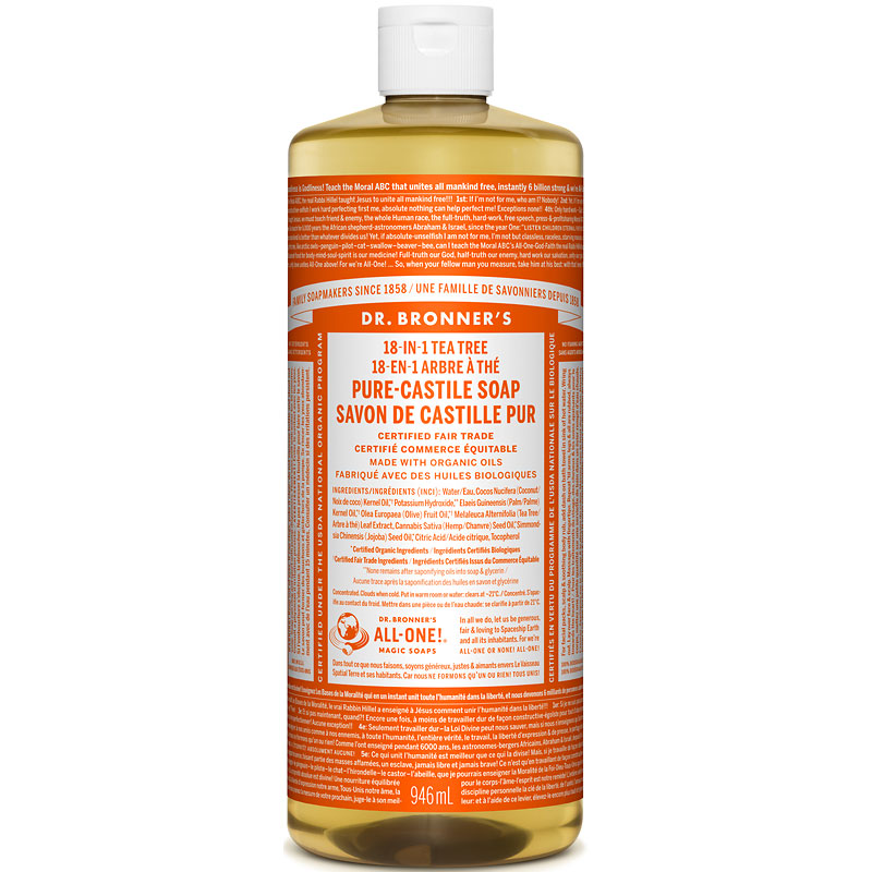 Dr. Bronner's 18-IN-1 Pure-Castile Liquid Soap - Tea Tree - 944ml