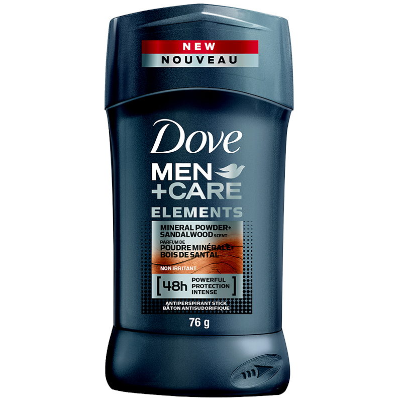 Dove Men+Care Elements Mineral Powder+Sandalwood Antiperspirant Stick - 76g