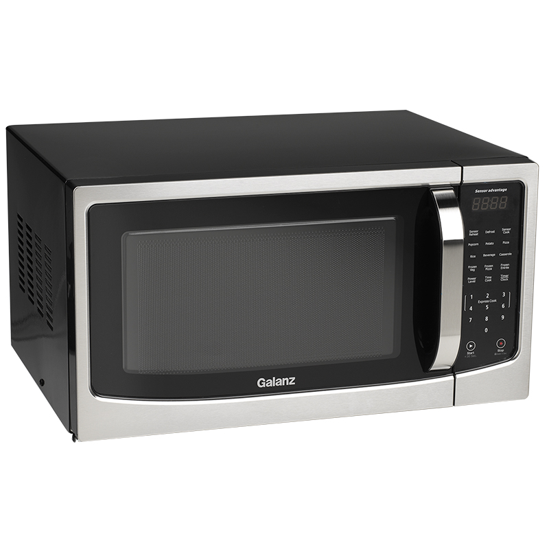 Galanz 1.4cu.ft Microwave - Black/Stainless