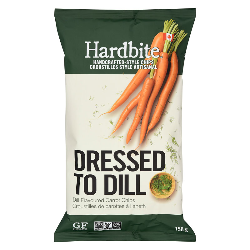Hardbite Carrot Chips - Dressed To Dill - 150g