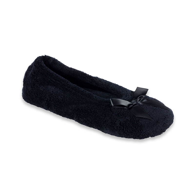 Isotoner Microterry Ballerina Slide Slippers