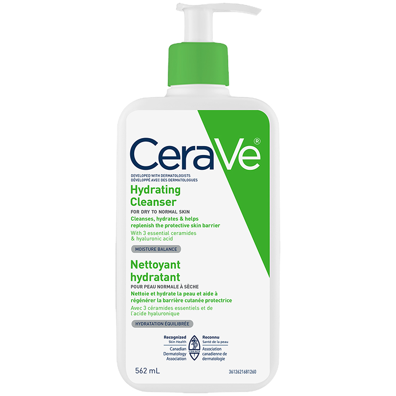 CeraVe Hydrating Facial Cleanser With Hyaluronic Acid and 3 Ceramides 562ml