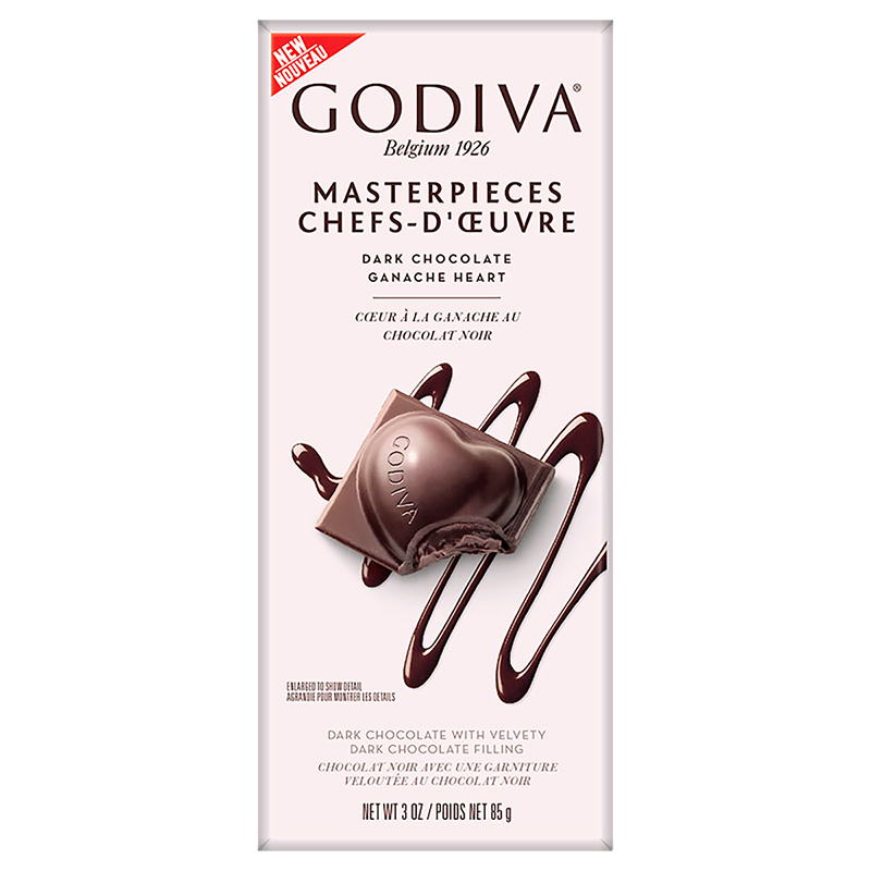 Godiva Dark Chocolate Ganache Bar - 85g