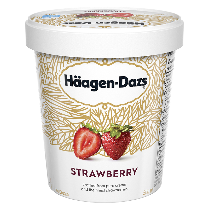 Haagen Dazs Strawberry Ice Cream - 500ml