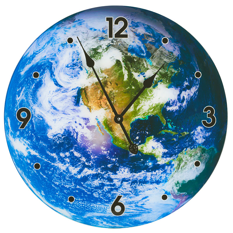 London Drugs Glass Wall Clock - Earth
