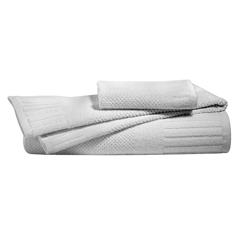 Royal Living Piano Bath Towel - White