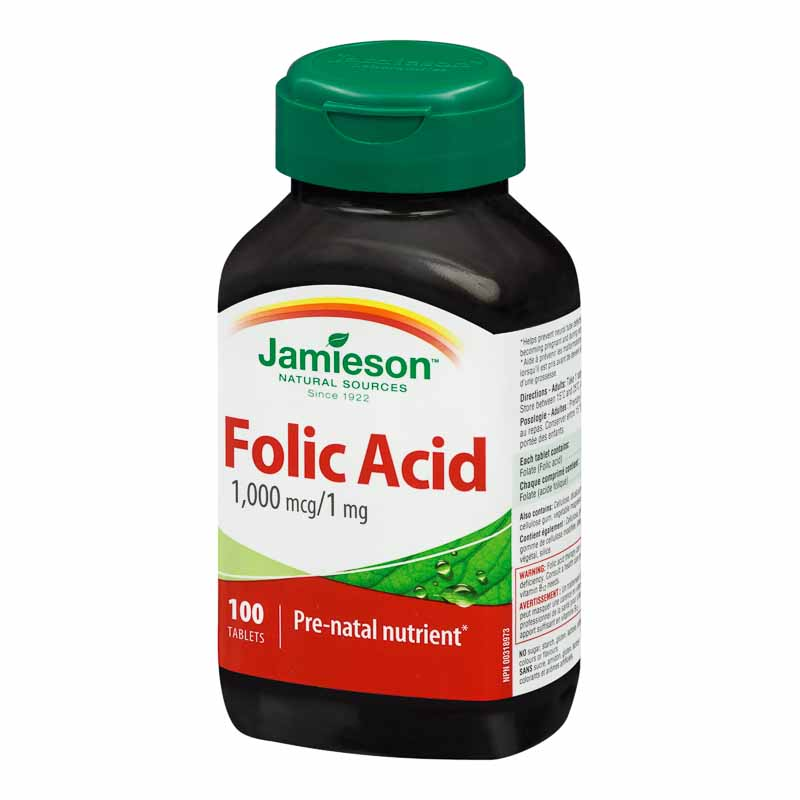 Jamieson Folic Acid 1,000 mcg/1 mg - 100's