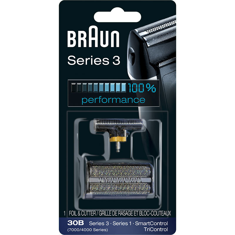 Braun 30B/Series 3 - 7000/4000 Series/SyncroPro, Syncro, SmartControl, TriControl Foil & Cutterblock