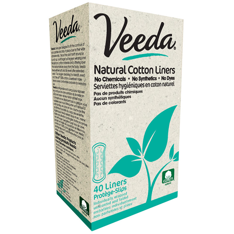 Veeda Natural Cotton  Liners - 40's