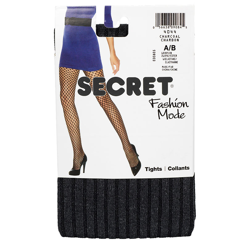 Secret Ribbed Heather Tights