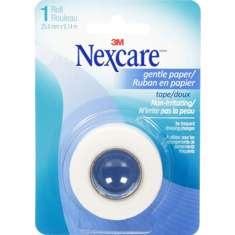 3M Nexcare Gentle Paper Tape - 25.4mm x 9.1m
