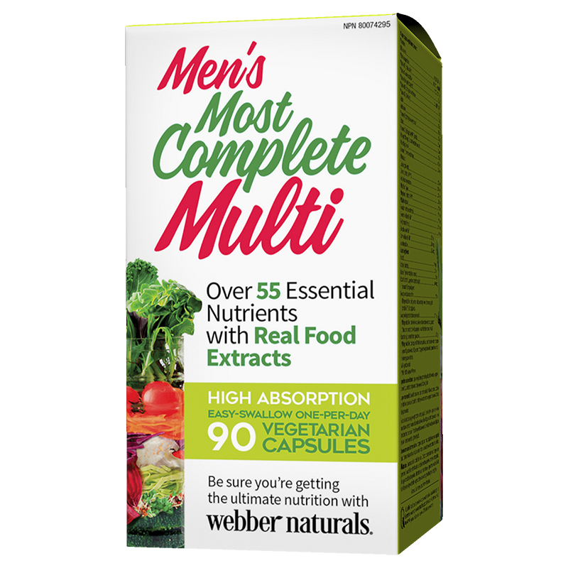 Webber Naturals Men's Most Complete Multi - 90's