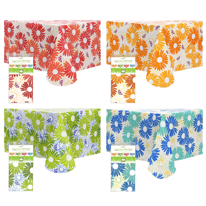 "Boutique Floral PEVA Tablecloth - 52"" x 70"" - Assorted"