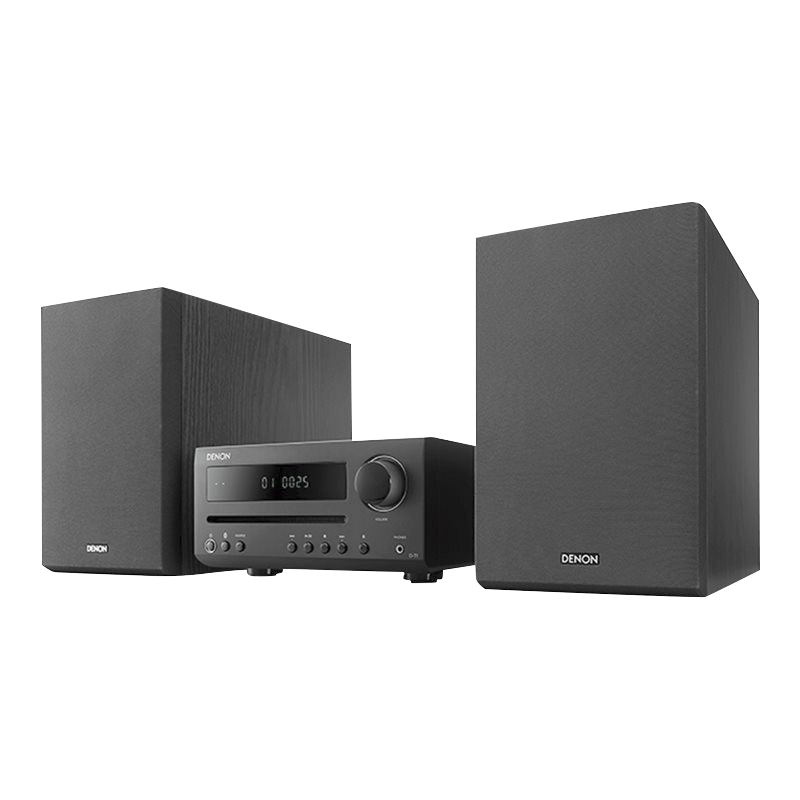 Denon Hi-Fi Mini System with CD and Bluetooth - Black - D-T1