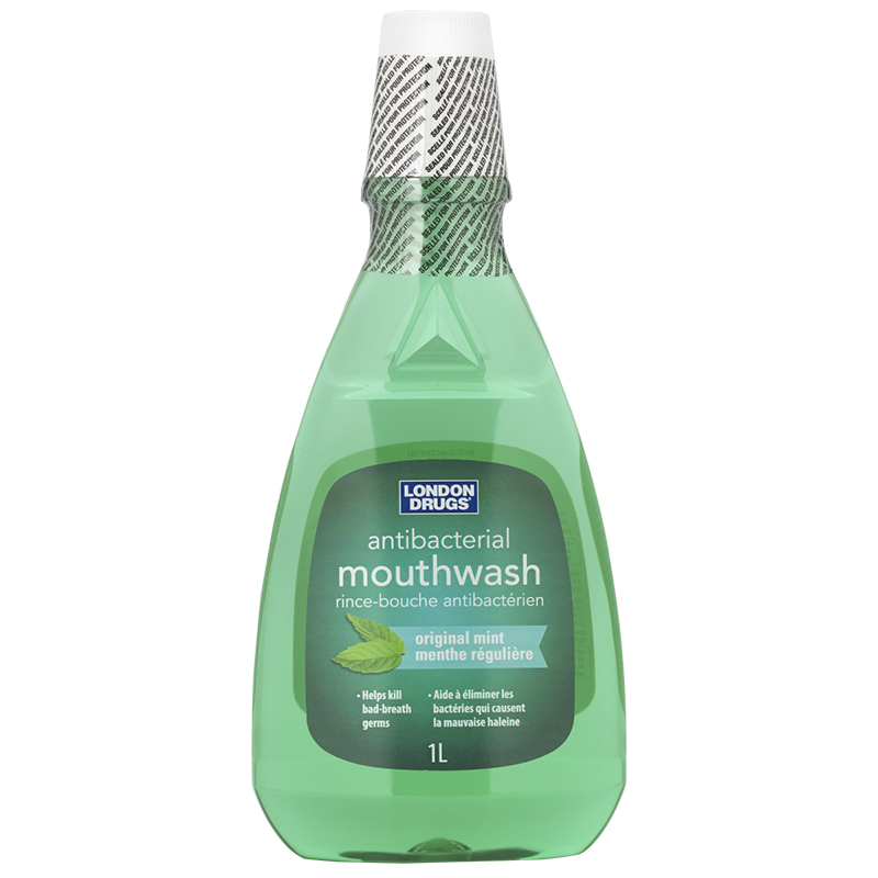 London Drugs Antibacterial Mouthwash - Original Mint - 1L