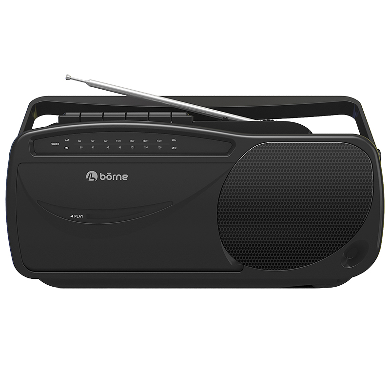 Borne AM/FM Cassette Player - Black - PRCST100