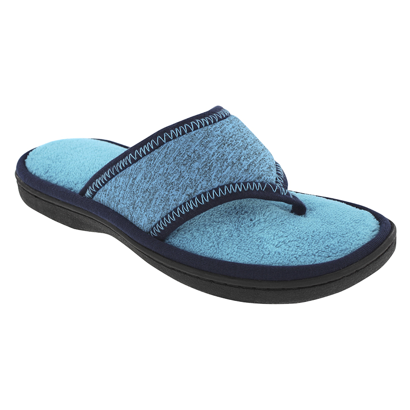 Isotoner Space Dye Thong Slipper - Sailor Blue - Large
