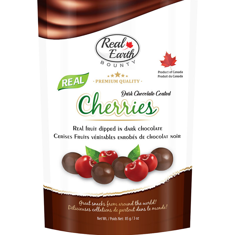 Real Earth Bounty Dark Chocolate - Cherries - 85g