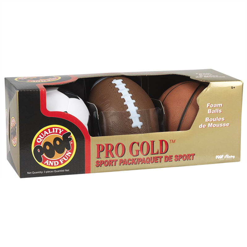 Poof Pro Gold Mini Sport Pack - 3 piece