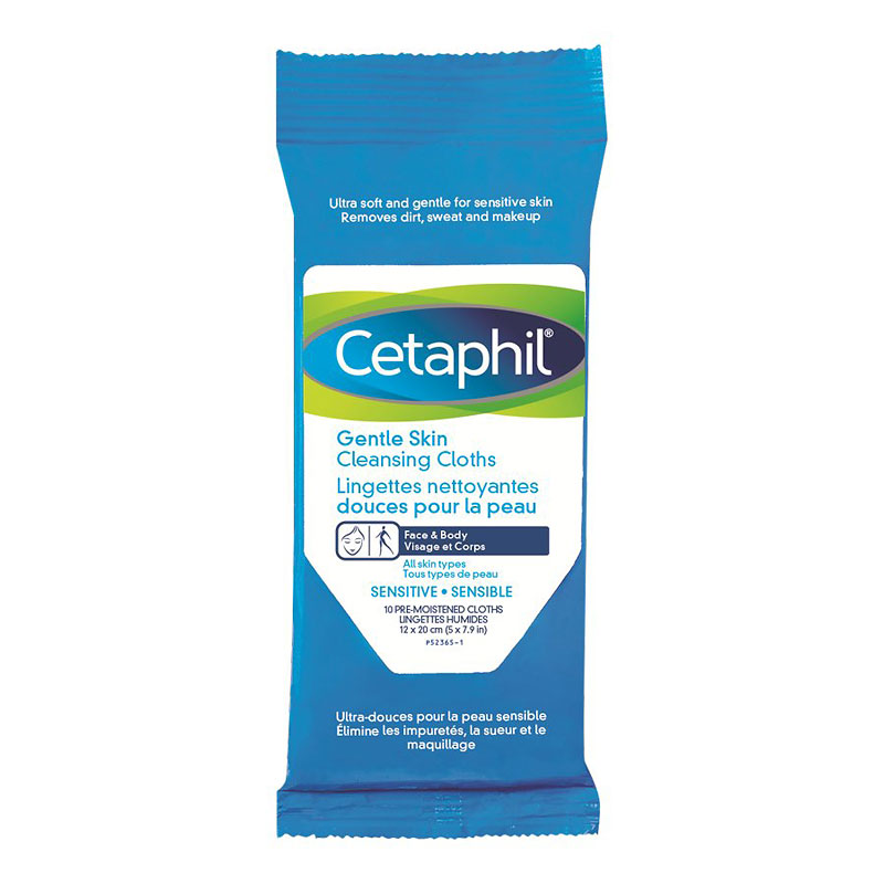 Cetaphil Gentle Skin Cleansing Cloths - 10's