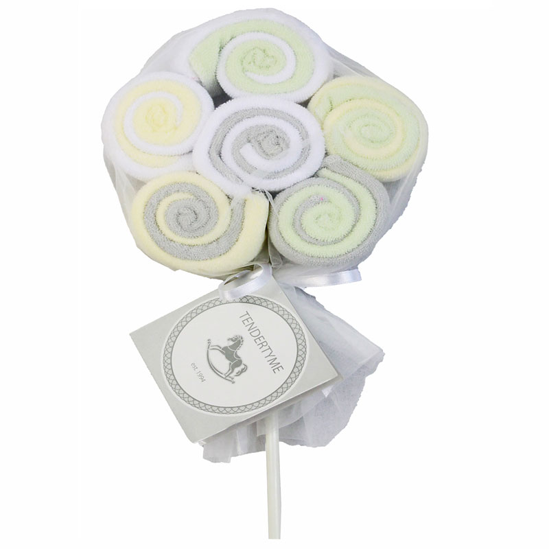 Tendertyme Lollipop Washcloths - 12 pack