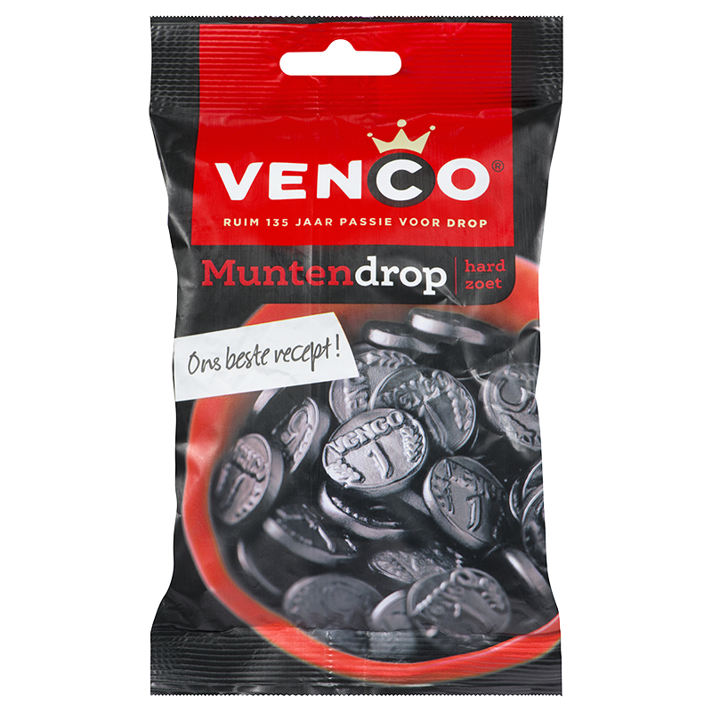 Venco Licorice Coins - Hard - 157g