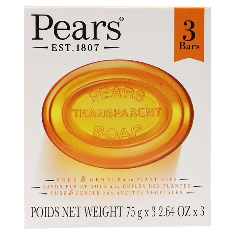 Pears Transparent Soap - 3 x 75g