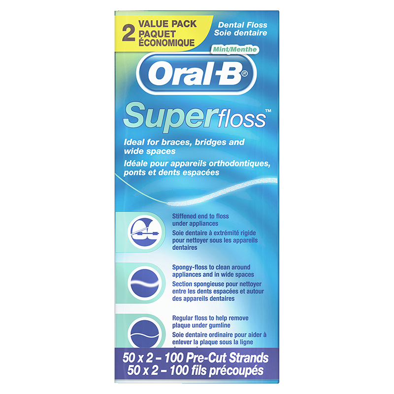 Oral-B Super Floss Value Pack - 2 x 50's