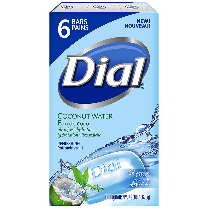 Dial Coconut Water Glyercin Soap Refreshing - 6 x 113g
