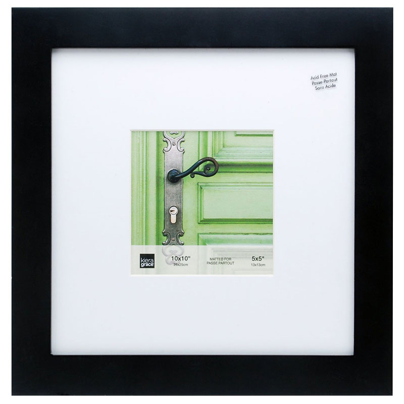 KG Langford Black Wood Frame - 10x10-Inch Matted for 5x5-Inch ...