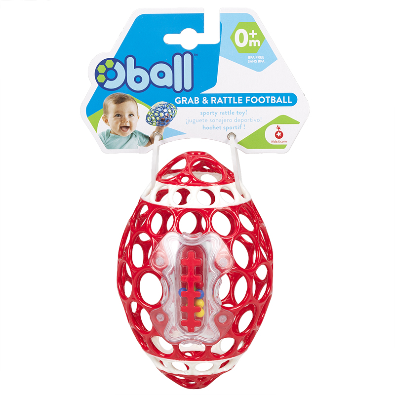 Oball Football with Rattle