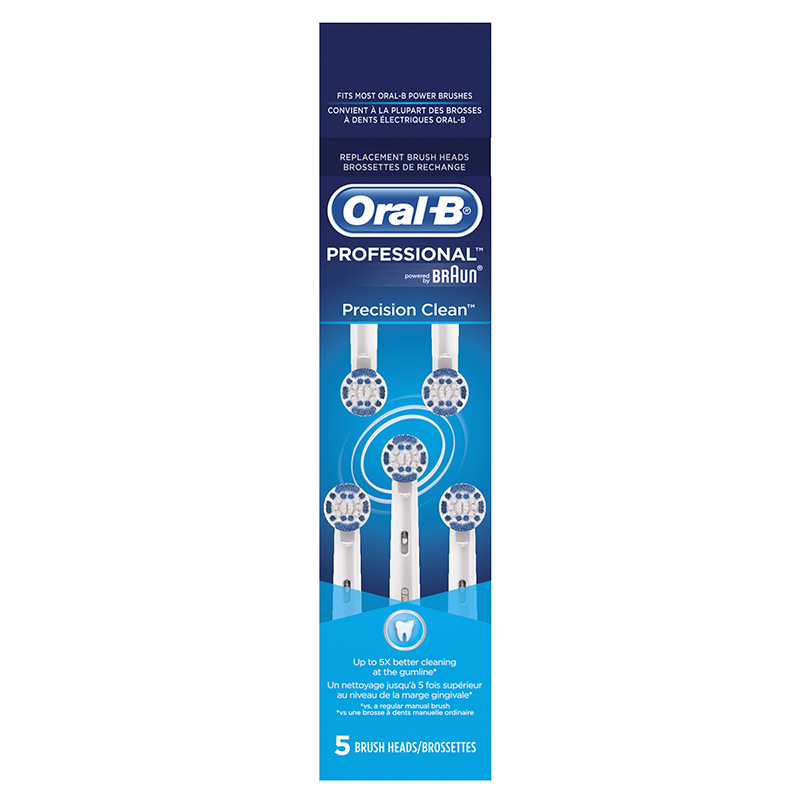 Oral-B Precision Clean Brush Heads - 5's