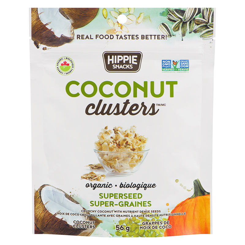 Hippie Snacks Coconut Cluster Super Seed - 56g
