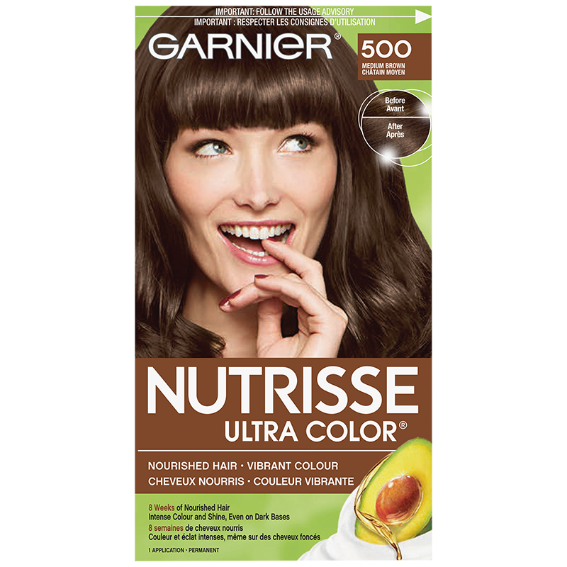 Garnier Nutrisse Ultra Color Permanent Hair Colour - 500 Medium Brown