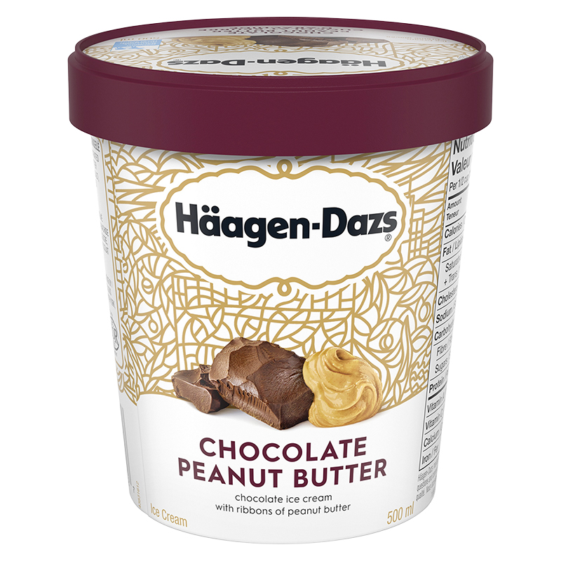 Haagen Dazs Chocolate Peanut Peanut Butter Ice Cream - 500ml