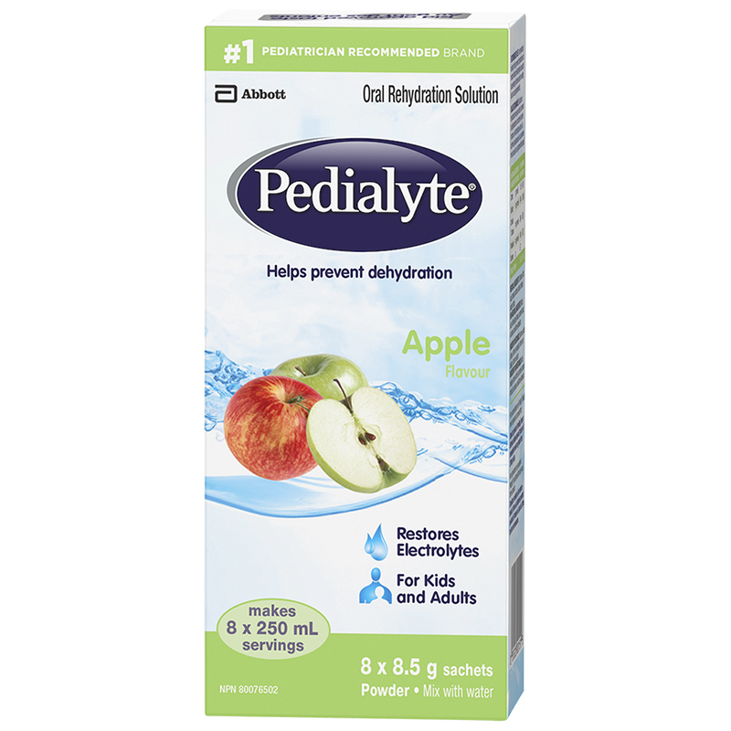 Pedialyte Powder - Apple - 8 x 8.5g