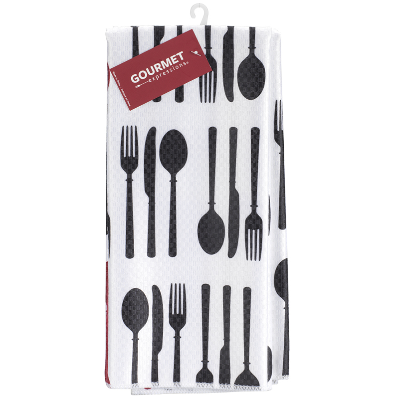 Boutique Printed Microfibre Kitchen Towel - 2 pack